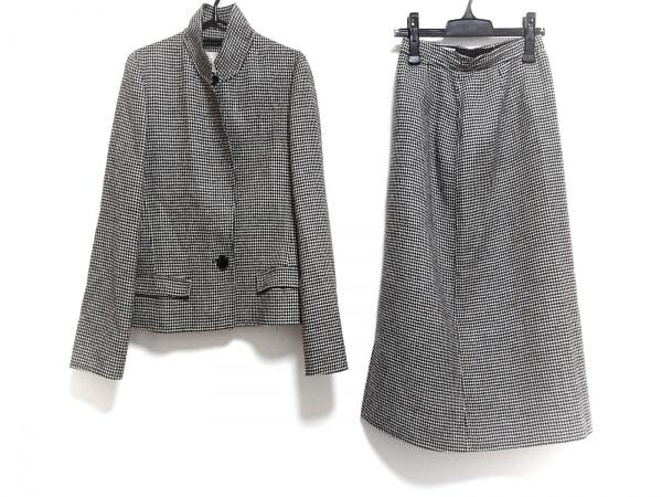 ランチェッティ スカートスーツ サイズ40 M レディース 黒×白 肩パッド/千鳥格子