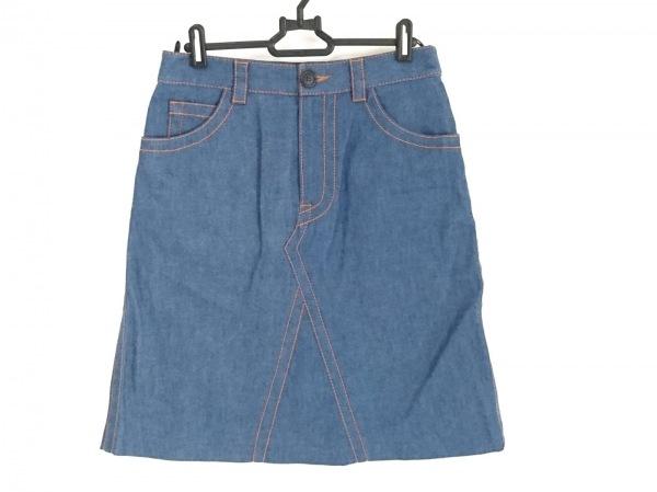PRADA(プラダ) スカート サイズ42 M レディース美品  ブルー デニム