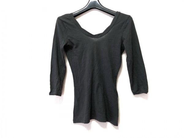 AcneJeans(アクネジーンズ) 七分袖Tシャツ サイズS レディース ダークグレー