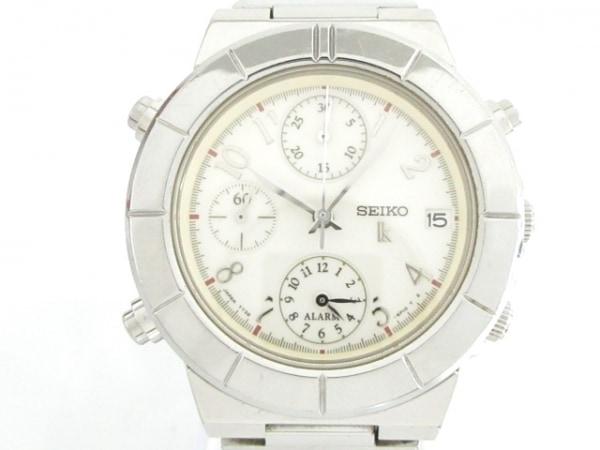 SEIKO(セイコー) 腕時計 ルキア 7T32-6K80 ボーイズ クロノグラフ 白