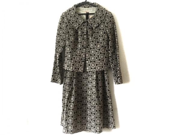 Sybilla(シビラ) ワンピーススーツ サイズM レディース 黒×アイボリー 刺繍