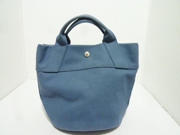 ANVOCOEUR(アンヴォクール) トートバッグ ブルー キャンバス