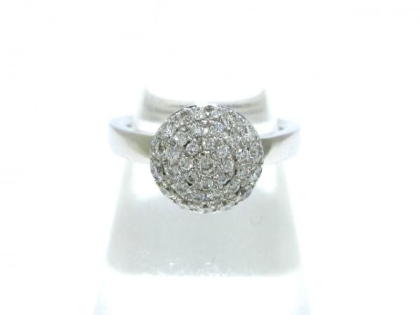 RUGIADA(ルジアダ) リング美品  K18WG×ダイヤモンド