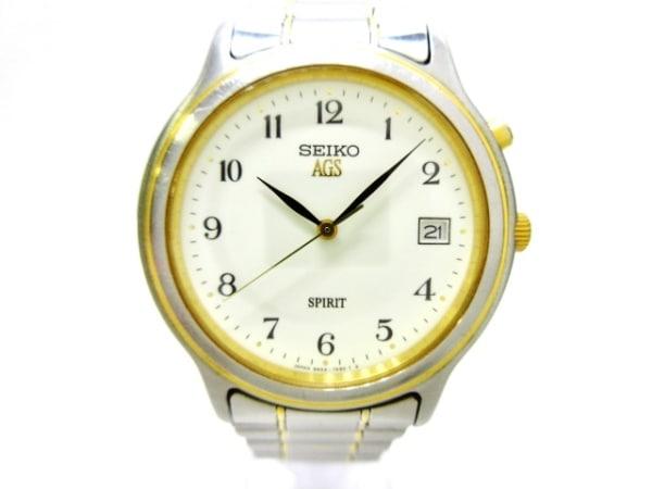 SEIKO(セイコー) 腕時計美品  AGS 5M22-7A40 メンズ アイボリー