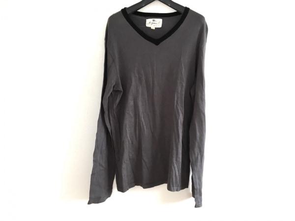 agnes b(アニエスベー) 長袖セーター サイズ2 M メンズ ダークグレー×黒 b.green