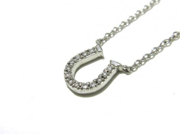 TIFFANY&Co.(ティファニー) ネックレス美品  ホースシュー K18WG×ダイヤモンド