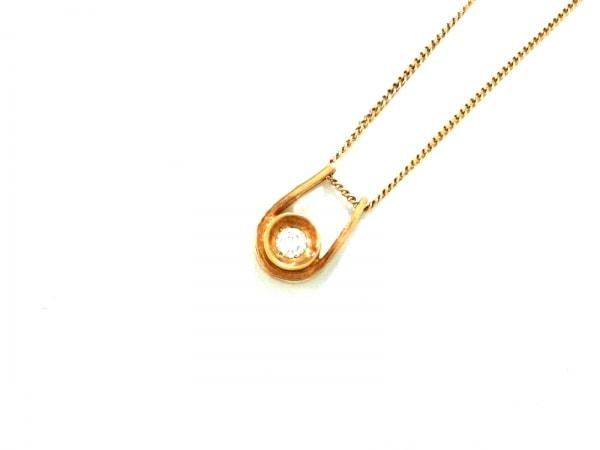 ノーブランド ネックレス美品  K18×ダイヤモンド 総重量:3.2g/010刻印
