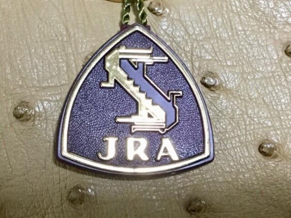 JRA(ジェイアールエイ) ハンドバッグ ベージュ オーストリッチ