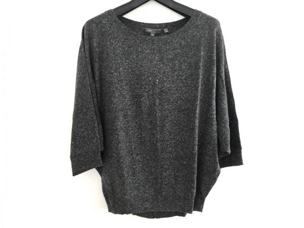 VINCE(ヴィンス) 七分袖セーター レディース新品同様  ダークグレー×ライトグレー