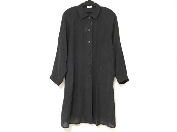 CECIOUCELA(セシオセラ) コート サイズM レディース美品  黒 肩パッド/薄手/春・秋物
