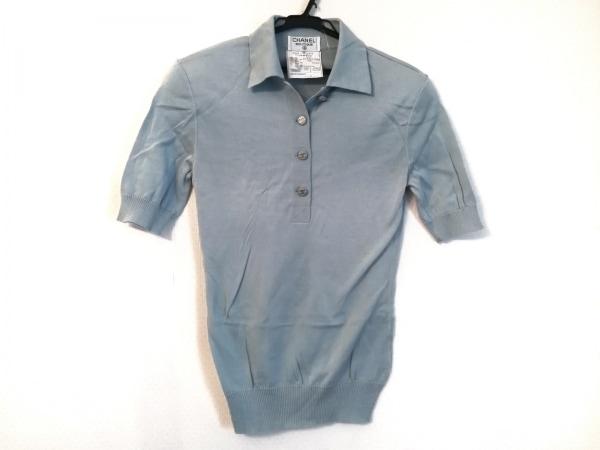 CHANEL(シャネル) 半袖ポロシャツ サイズ38 M レディース美品  P02512 ライトブルー
