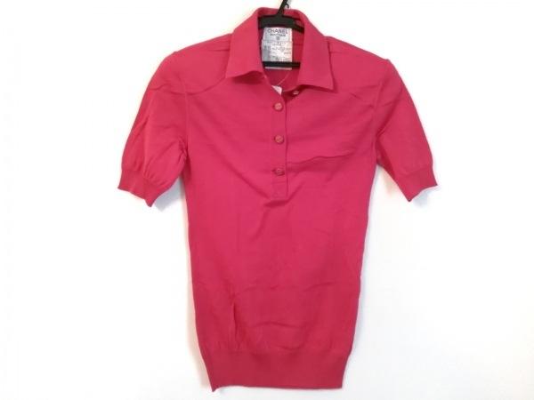 CHANEL(シャネル) 半袖ポロシャツ サイズ38 M レディース美品  P02512 ピンク