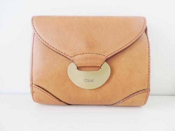 Chloe(クロエ) 3つ折り財布 - ライトブラウン レザー