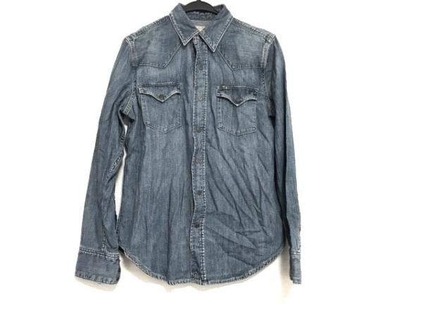 ポロラルフローレン 長袖シャツ サイズM メンズ美品  ブルー デニム