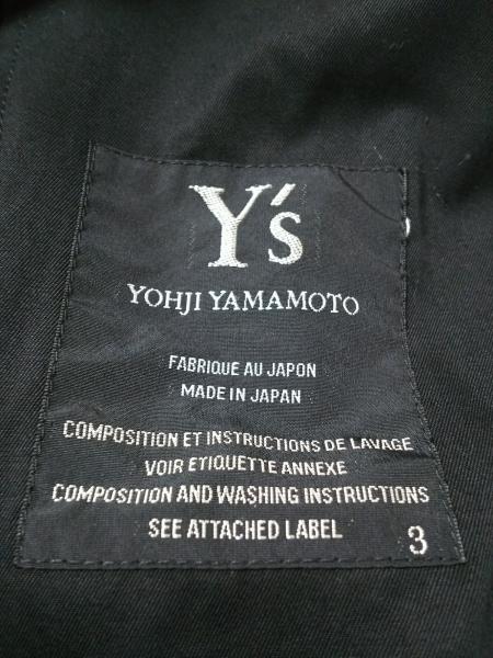 Y's(ワイズ) コート サイズ3 L レディース 黒 春・秋物