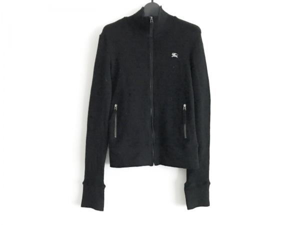 バーバリーブルーレーベル 長袖セーター サイズ38 M レディース美品  黒 ジップアップ