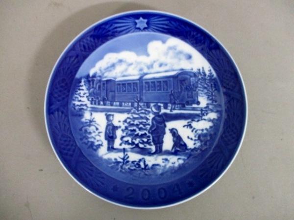 ロイヤルコペンハーゲン プレート新品同様  ブルー×白 2004年イヤープレート 陶器