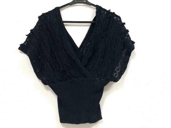 GRACE CONTINENTAL(グレースコンチネンタル) 半袖セーター サイズ36 S レディース 黒