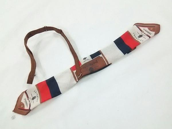 ザドレスアンドコー スカーフ アイボリー×ブラウン×マルチ スカーフタイ