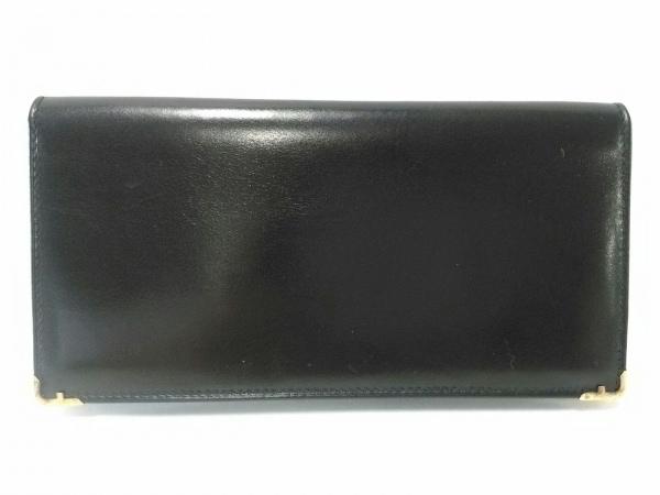 サルバトーレフェラガモ 札入れ美品  - 黒×ゴールド レザー×金属素材