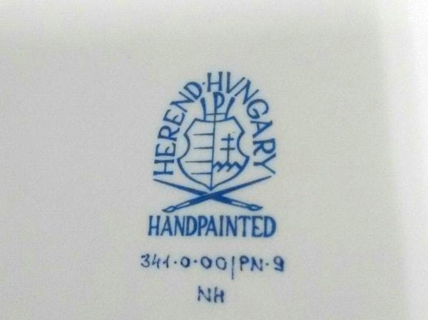 Herend(ヘレンド) プレート新品同様  白×ピンク×マルチ 陶器