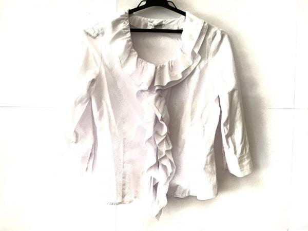 ナラカミーチェ 七分袖シャツブラウス サイズM0 レディース美品  白 フリル