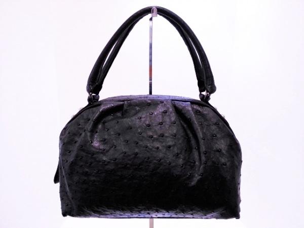 SALUE DOLE(サルエドール) ハンドバッグ 黒 JRA オーストリッチ
