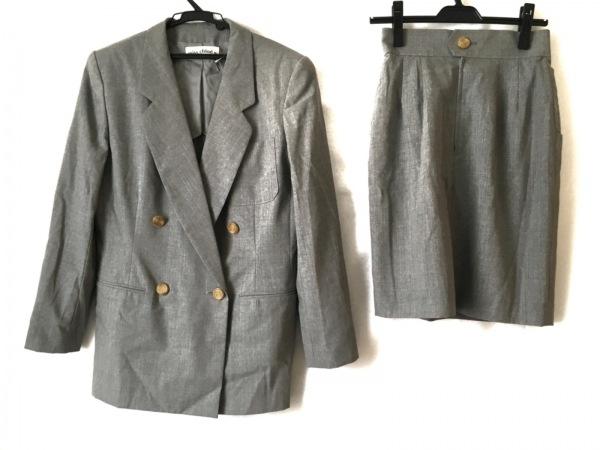 MISS CHLOE(クロエ) スカートスーツ レディース グレー 肩パッド/3点セット