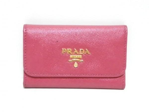PRADA(プラダ) キーケース - 1M0222 ピンク 6連フック レザー