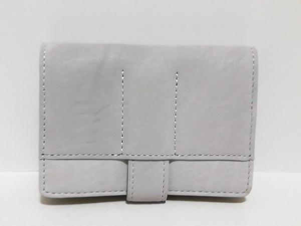 KNOXBRAIN(ノックスブレイン) カードケース美品  ライトグレー レザー