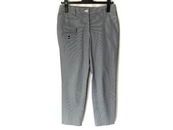 PICONE(ピッコーネ) パンツ サイズ40 M レディース新品同様  ネイビー×白 チェック柄