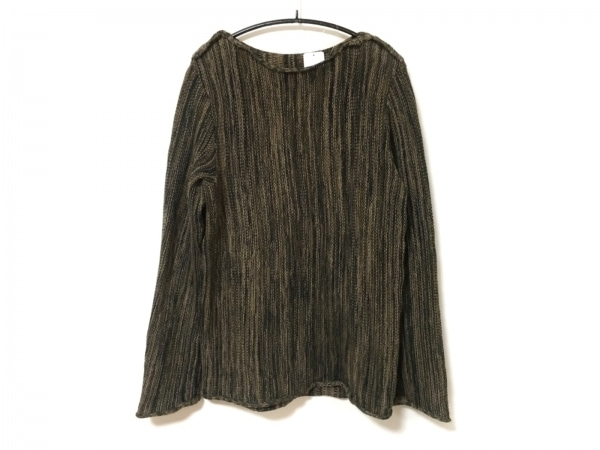 SHELLAC(シェラック) 長袖セーター サイズ46 XL レディース ブラウン×黒