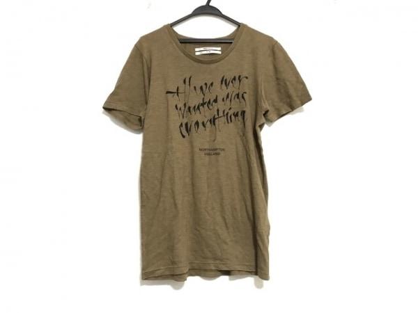 ROBERTGELLER(ロバートゲラー) 半袖Tシャツ サイズ46 XL メンズ美品  ブラウン×黒