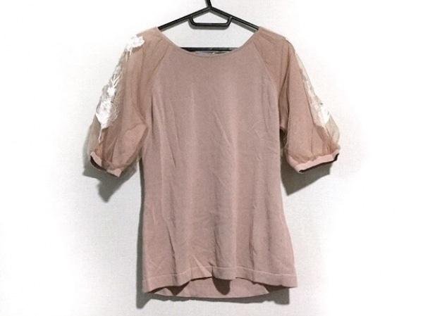 BLUMARINE(ブルマリン) 半袖セーター サイズ42 M レディース美品  1008 ベージュ×白