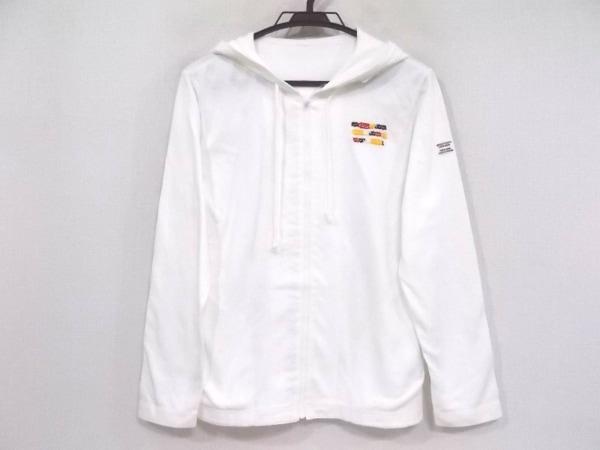 マドモアゼルノンノン パーカー サイズ38 M レディース美品  白 ジップアップ/刺繍