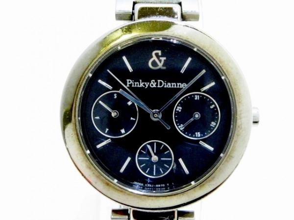 ピンキー&ダイアン 腕時計美品  V33J-6A90 レディース トリプルカレンダー 黒
