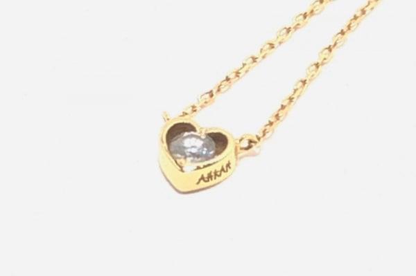 AHKAH(アーカー) ネックレス K18WG×ダイヤモンド ハート