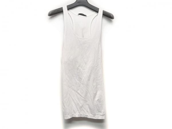 アストラット ノースリーブTシャツ サイズ1 S レディース 白×グレー 変形デザイン