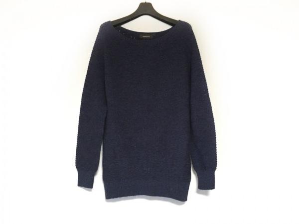 JUSGLITTY(ジャスグリッティー) 長袖セーター サイズ2 M レディース ブルー×黒
