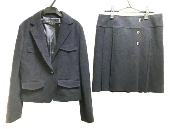 INDIVI(インディビ) スカートスーツ レディース美品  黒 厚手