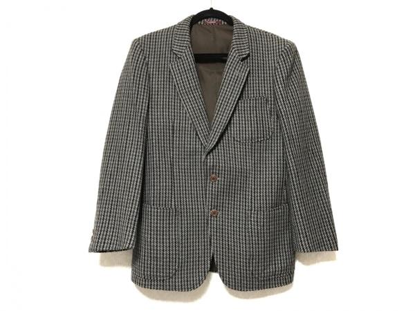 DURBAN(ダーバン) ジャケット サイズ55 メンズ カーキ×黒 千鳥格子