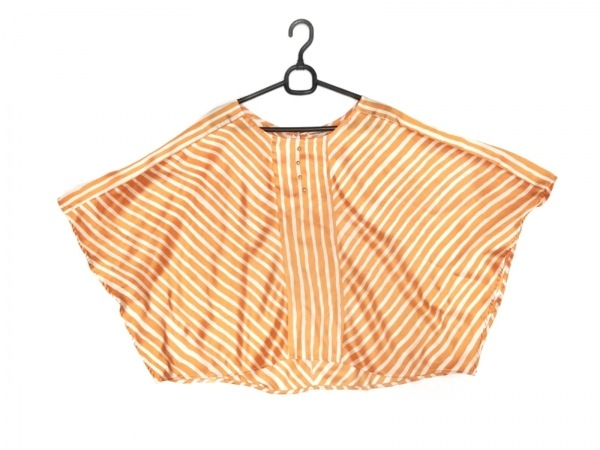 MARILYN MOON(マリリンムーン) 半袖カットソー レディース美品  オレンジ×アイボリー