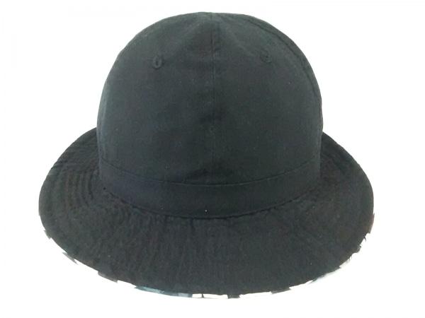 サタデーズ サーフ ニューヨーク 帽子美品  黒×マルチ リバーシブル コットン