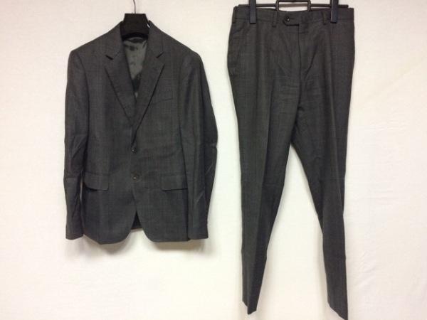 パーソンズ シングルスーツ サイズYA4 メンズ美品  ライトグレー×ダークグレー