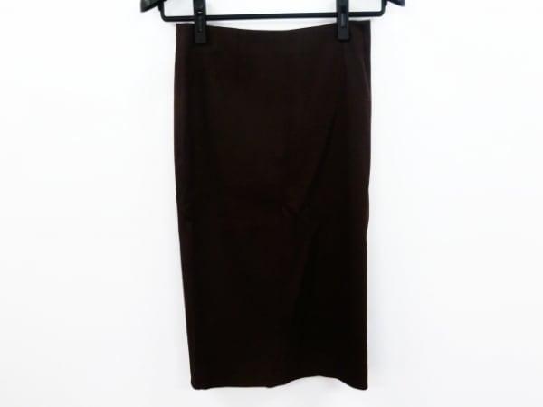 ジョンガリアーノ ロングスカート サイズ2 M レディース美品  ダークブラウン