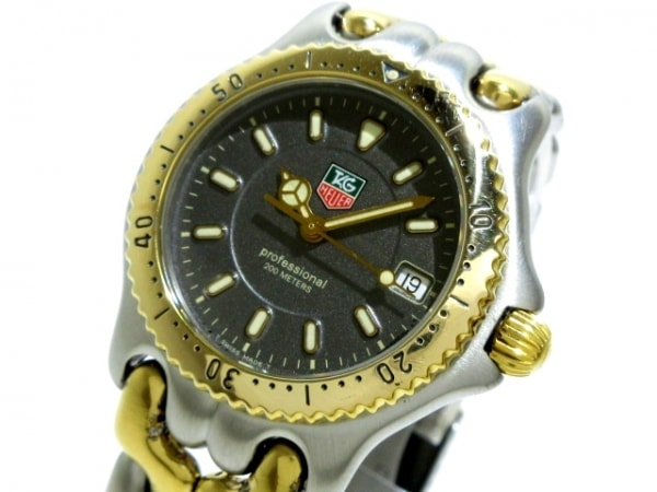 タグホイヤー 腕時計 プロフェッショナル200 WG1220-K0 ボーイズ ダークグレー
