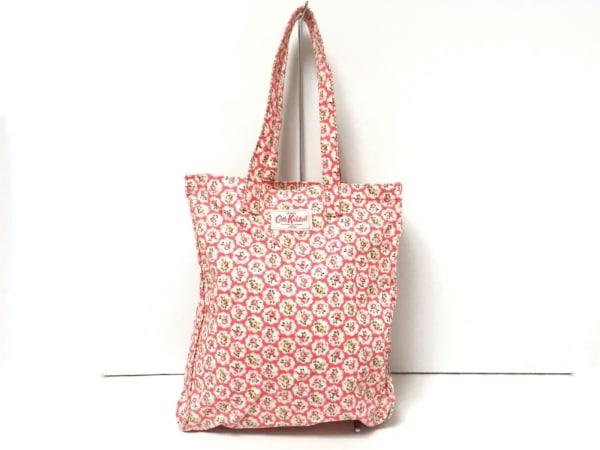 Cath Kidston(キャスキッドソン) トートバッグ美品  ピンク×マルチ 花柄 キャンバス