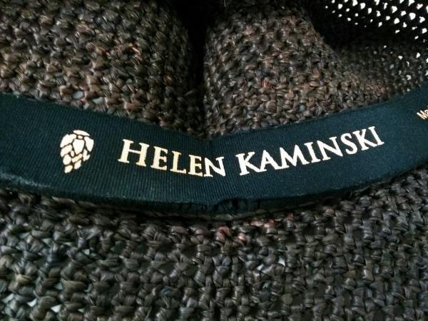 HELEN KAMINSKI(ヘレンカミンスキー) ハット美品  ダークブラウン ストロー