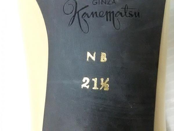 ギンザカネマツ パンプス 21 1 / 2 レディース ベージュ×ゴールド レザー×金属素材