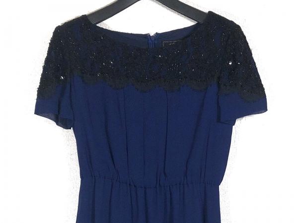 グレースコンチネンタル ドレス サイズ38 M レディース ブルー×黒